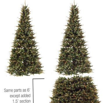 6' - 7.5' Pre-Lit Extend-A-Tree Adjustable Artificial Christmas Tree - Clear Lights