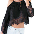 Black Crop Top With Lace Details