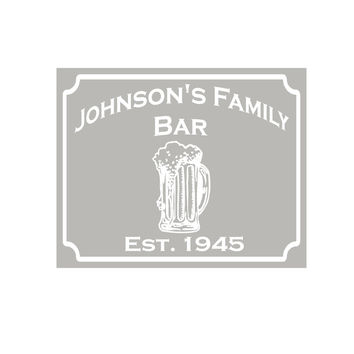 "Beer Mug Custom Personalized Etched Bar Mirror Pub Signs Man Cave Decor 20"" x 16"""