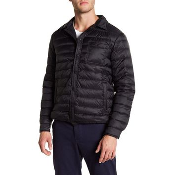 Slate & Stone Men's Lightweight Black Quilted Down Jacket