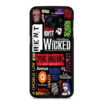 Famous Broadway Musiacal Plays Collage Samsung Galaxy S7 Edge Case