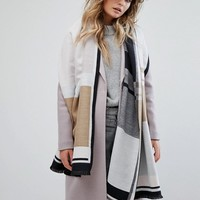 River Island Colour Block Stripe Blanket Scarf at asos.com