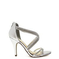 4 Silver Rhinestone Stiletto Womens High Heel Shoes