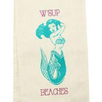 W'Sup Beaches Tea Towel by Wit