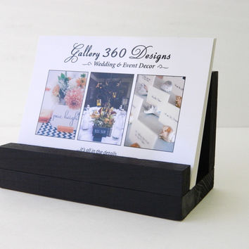 Black wood Post Card Holder