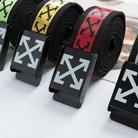 Off White Woman Men Fashion Logo Letters Embroidery Belts