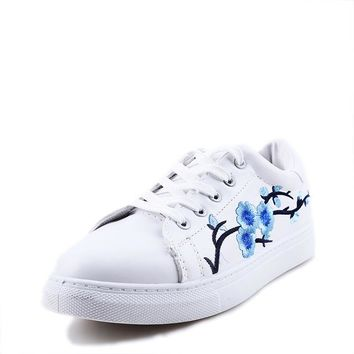 Spring Embroidery Flower Female Chic Casual Shoes Sneakers
