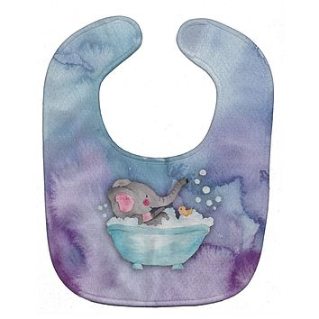 Elephant Bathing Watercolor Baby Bib BB7346BIB