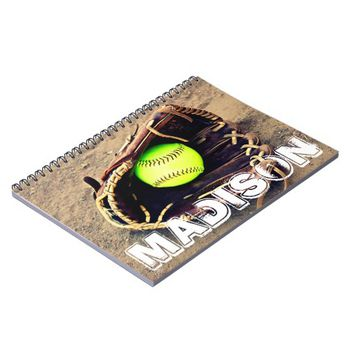 Custom Softball Notebook