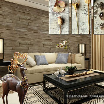 Vinyl Wallpaper Self Adhesive Wallpaper Wall Sticker Wall Decal Peel and Stick Home Decor Adhesive Wallpaper 3D Stone Brick TV Bedroom 8333