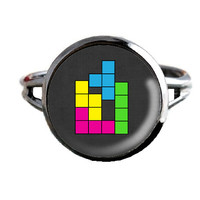 Tetris Inspired Ring - Video Game - Retro 80s Jewelry
