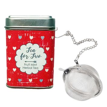 Tea for Two Tin with Infuser
