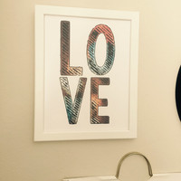 "Printable Wall Decor ""LOVE"""