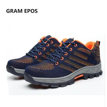 GRAM EPOS Air Mesh Unisex Boots Men Work Safety Shoes Steel Toe Cap For Anti-Smash Puncture Proof Breathable Protect Footwear