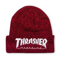 Thrasher Magazine Shop - Embroidered Logo Beanie Red/White