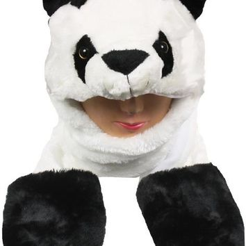 Panda Animal Winter Hat With Mittens - CASE OF 12
