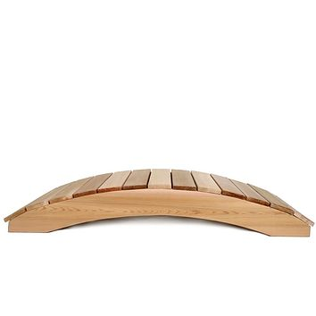 4-Ft Garden Bridge in Western Red Cedar - Holds up to 800 lbs
