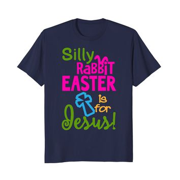 Easter Jesus T Shirt Funny Christian holiday rabbit gift tee