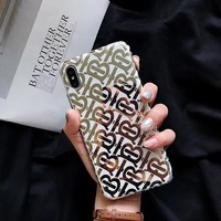 BURBERRY GOLD MONOGRAM CASE