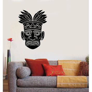 Vinyl Decal Wall Sticker Hawaii Male Mask Peoples National Traditions Unique Gift (n1254)