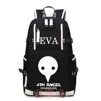 Japanese Anime Bag Hot  Neon Genesis Evangelion Backpack Cosplay EVA Canvas Bag Schoolbag Travel Bags AT_59_4