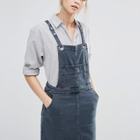Vila | Vila Eyelet Denim Pinafore Dress at ASOS