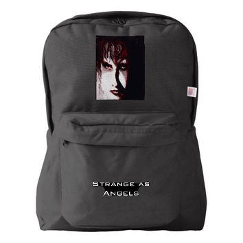 Gothic God Post Punk Goth Art Customize Backpack