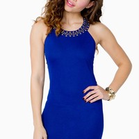 Bead Collar Bodycon Dress