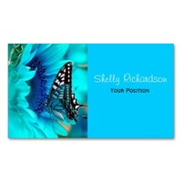 Black & Blue Butterfly Business Cards from Zazzle.com