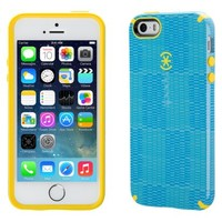 Speck CandyShell Inked Textura Cell Phone Case for iPhone 5/5s - Blue/Yellow (SPK-A2637)