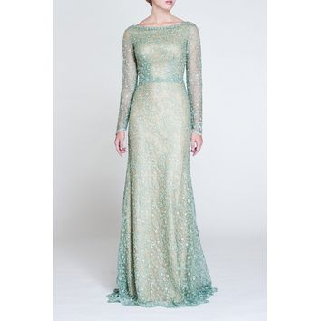 Women Coralle - Evening Dress - Beaded Tulle & Lace - Prom Dress