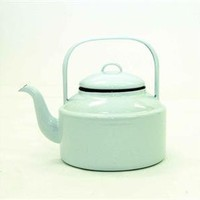 White Enamelware Tea Kettle