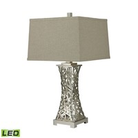 D2604-LED Trump Home Woven Metal Thread LED Table Lamp in Silver Leaf