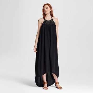 Mossimo Supply Co. Women's Embroidered Maxi Dress, XXL, Black