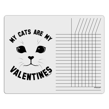 My Cats are my Valentines Chore List Grid Dry Erase Board by TooLoud