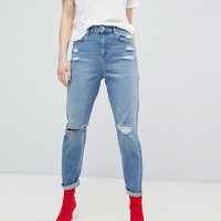 Miss Selfridge High Waist Slim Leg Jeans at asos.com