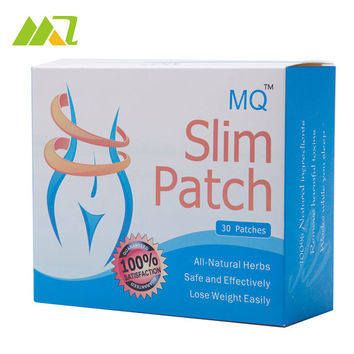 30 Patches/Box 2016 MQ Slim Patch Natural Ingredients Weight Loss Patch Slimming For Lady Women Men Navel Cream Slim Patch