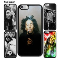 MaiYaCa Bob Marleys Weed Smoking Soft TPU Skin Mobile Phone Cases OEM For iPhone 6 6S Plus 7 7 Plus 8 X 5 5S SE Back Cover Shell
