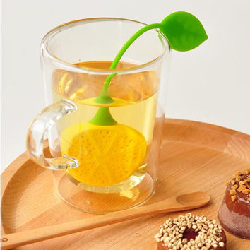 Lemon Shape Strainer Filter Teapot Herb Bag