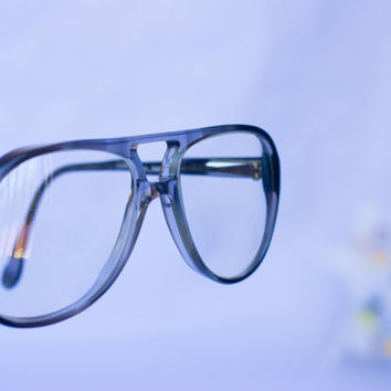 Vintage 1970's Roberto Elliot Mens Aviator Big Boy Eyeglasses