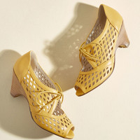 Perf Your While Peep Toe Heel