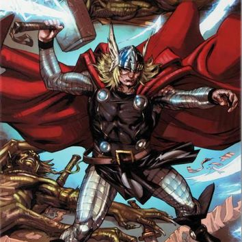 Thor: Heaven and Earth #3 - Limited Edition Giclee on Stretched Canvas by Pascal Alixe and Marvel Comics