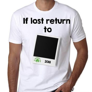 St. Patrick's Day T-shirt- If Lost return to Polaroid photo