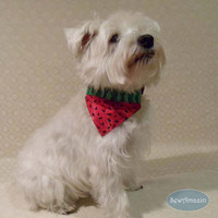 Watermelon Dog Bandana, Summer Dog Bandana, Over-the-Collar Dog Bandana