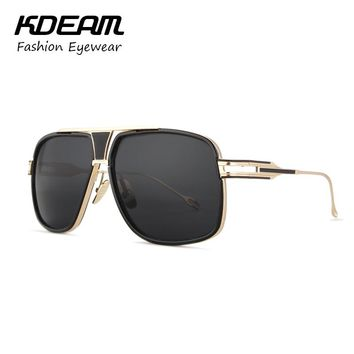 Metal Frame Sunglasses Men Goggle UV400 Women Retro Sunglasses With case