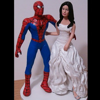 Custom Wedding Cake Toppers Figure set - Superheroes - Your Choice