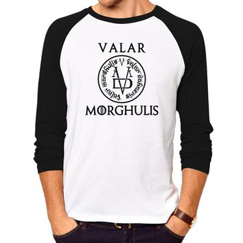 THE Game of Thrones T Shirt Men / Women cool T Shirts hot valar morghulis long sleeve T-Shirt Male geek hip hop swag men shirts