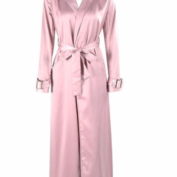 Caliou Rose Gold Silky Duster Jacket
