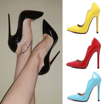 Pointed Toe Lace High Heel Shoes = 4814781828