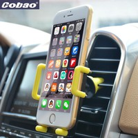 Universal car phone holder stand Cobao brand air vent smartphone car holder cell phone accessories for Iphone 6 samsung GPS